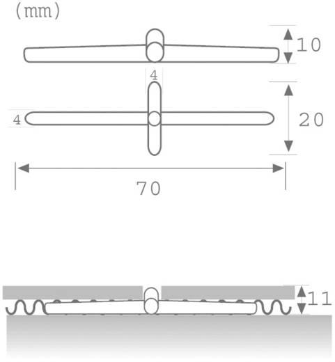 LED-Fliesenleuchte 4er Set 1.1 W Tageslicht-Weiß Paulmann 98768 Crosslight Schwarz