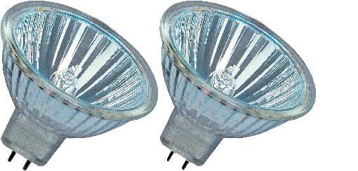 A++ - E GU5.3 46 mm 12 V 50 W Warm-Weiß Reflektor dimmbar OSRAM Halogen EEK B