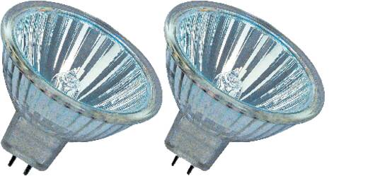OSRAM Halogen EEK: B (A++ - E) GU5.3 46 mm 12 V 20 W Warm-Weiß Reflektor dimmbar 2 St.