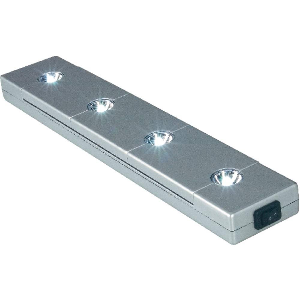Lampe led pour montage sous un meuble slv ledtui 0 1 w blanc chaud gris argent 22 4 cm sur le - Led pour meuble ...