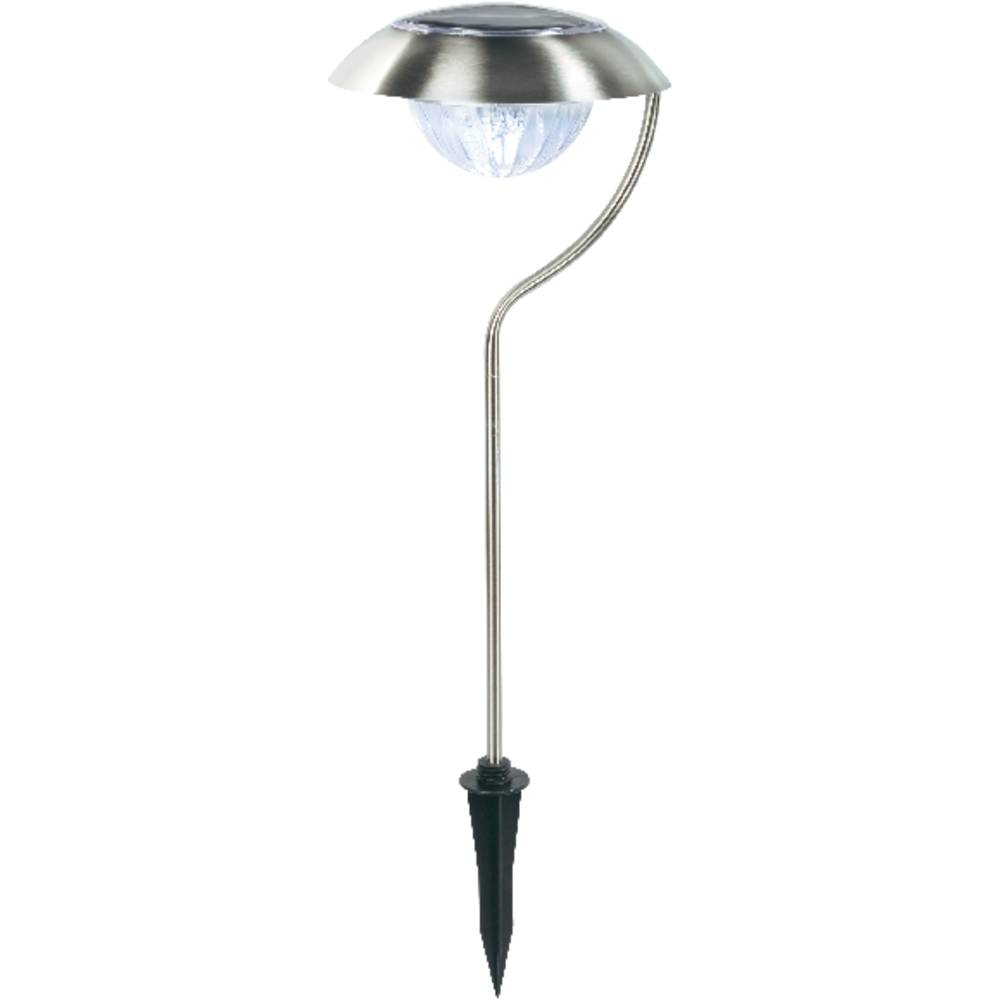 Lampe de jardin solaire ampoule led blanc froid acier for Lampe led jardin