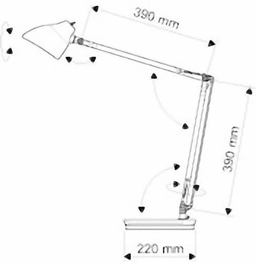 LED-Schreibtischleuchte 7 W Tageslicht-Weiß Maul Eclipse 8200295 Silber
