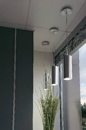 pendelleuchte energiesparlampe e27 60 w slv enola 149385 aluminium geb rstet. Black Bedroom Furniture Sets. Home Design Ideas
