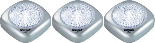 Mobile Kleinleuchte 3er Set LED Basetech Silber