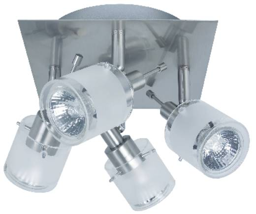 Deckenstrahler Halogen GU10 200 W Nice Price 3697 Nickel, Satin