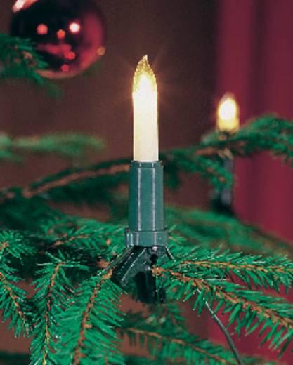 Weihnachtsbaum-Beleuchtung Innen netzbetrieben 10 Glühlampe Warm-Weiß Beleuchtete Länge: 6.75 m Konstsmide 1068-000