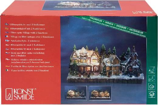 Tisch-Dekoration Fiberoptik-Dorf Warm-Weiß Glühlampe Konstsmide 3317-000 Bunt