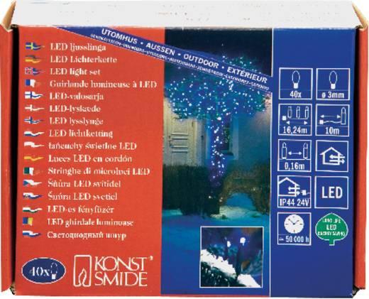 Micro-Lichterkette Außen netzbetrieben 40 LED Blau Beleuchtete Länge: 14.74 m Konstsmide 3610-400