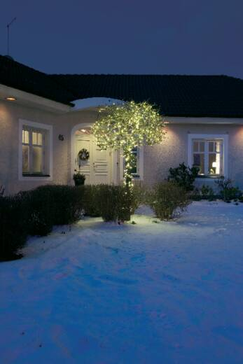 Konstsmide 3613-110 Micro-Lichterkette Außen EEK: A (A++ - E) netzbetrieben 200 LED Warm-Weiß Beleuchtete Länge: 31.84