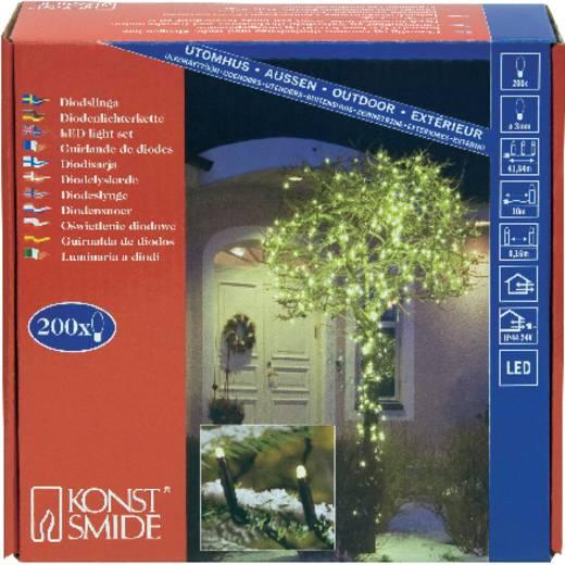 Micro-Lichterkette Außen netzbetrieben 200 LED Warm-Weiß Beleuchtete Länge: 31.84 m Konstsmide 3613-110