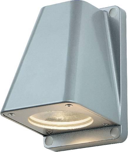 SLV Wallyx 227194 Außenwandleuchte Halogen, LED GU10 50 W Silber