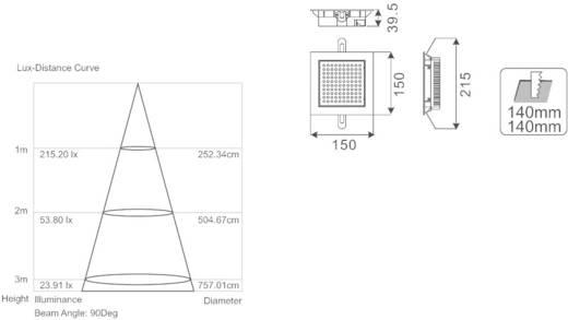 LED-Einbauleuchte 8.7 W Warm-Weiß Esotec 105205 Silber-Grau