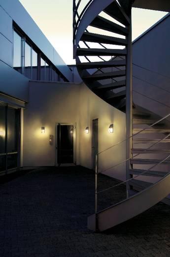 SLV Keras 227174 Außenwandleuchte Energiesparlampe, LED E27 24 W Silber-Grau
