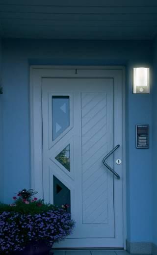 Außenwandleuchte mit Bewegungsmelder Energiesparlampe, LED E27 60 W Edelstahl
