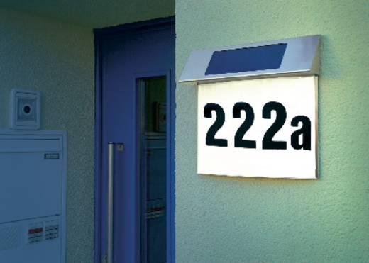 Solar-Hausnummernleuchte Kalt-Weiß Esotec 102200 Vision Edelstahl