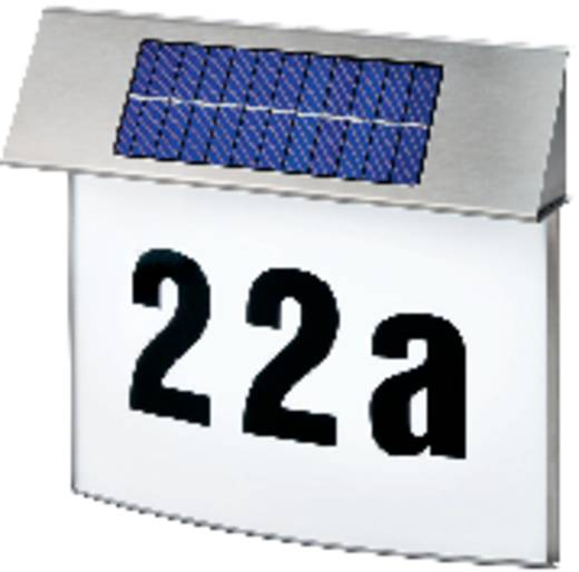 Esotec Vision 102200 Solar-Hausnummernleuchte Neutral-Weiß Edelstahl