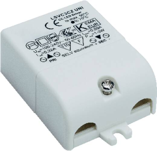 LED-Treiber Konstantstrom SLV 3 W 0.32 A 3 - 9 V/DC nicht dimmbar, Überlastschutz, Möbelzulassung