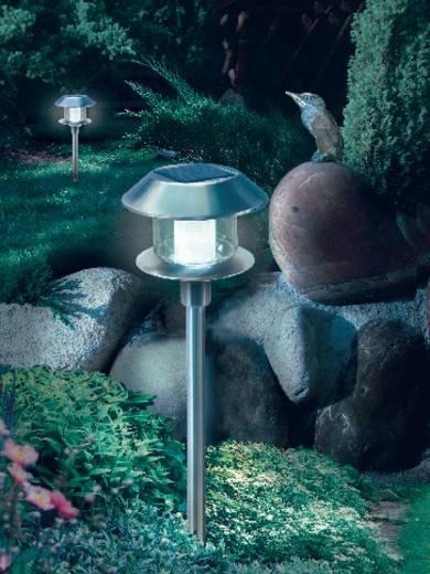 Solar-Gartenleuchte LED Warm-Weiß, Tageslicht-Weiß Esotec Swing 102070 Edelstahl