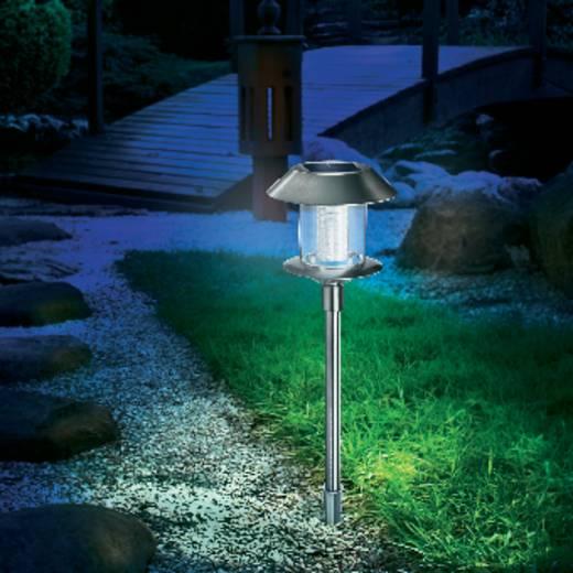 Esotec Solar-Gartenleuchte Swing 102070 LED Warm-Weiß, Tageslicht-Weiß Edelstahl
