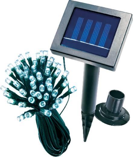 Solar-Lichterkette Außen solarbetrieben 48 LED Weiß Beleuchtete Länge: 10 m Esotec 102156