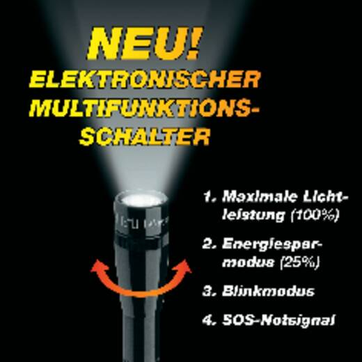 LED Taschenlampe MAG LED Technology Mini-Mag 2AA batteriebetrieben 77 lm 31.5 h 118 g