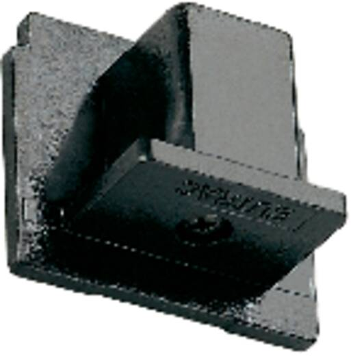 Hochvolt-Schienensystem-Komponente Endkappe Eutrac 145594 Silber-Grau