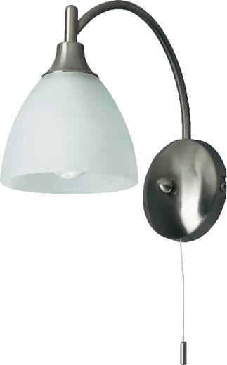 Wandleuchte E14 28 W Energiesparlampe Brilliant Enzio G66410/13 Eisen, Alabaster