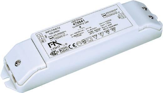 SLV 20 W, 24 V LED-Trafo Konstantspannung 20 W 0 - 0.8 A 24 V/DC nicht dimmbar, Montage auf entflammbaren Oberflächen, Ü