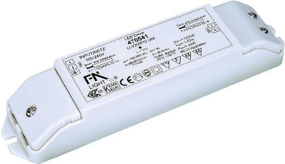 SLV 20W, 12V LED Trafo Konstantspannung 20 W 0 1.66 A 12 VDC nicht dimmbar, Montage auf entflammbaren Oberflächen, Üb