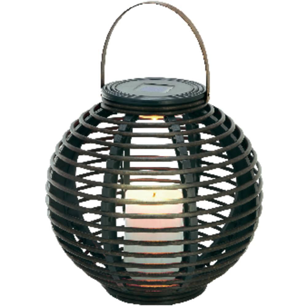 Lampe de jardin solaire esotec rattan 102074 ampoule led for Lampe de jardin a led