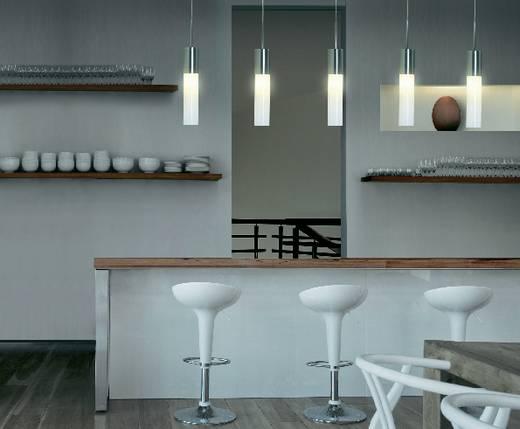 Pendelleuchte Energiesparlampe E27 13 W Sygonix Ferrara 575778 Silber-Grau