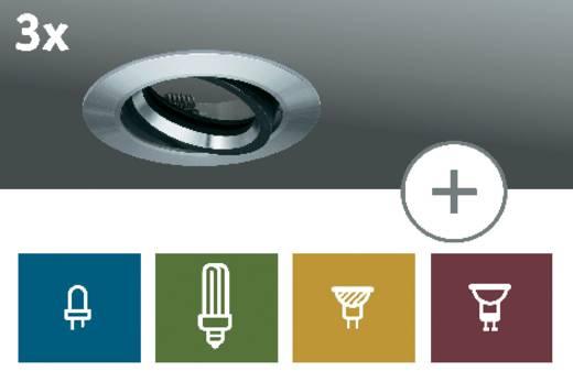 Einbauring 3er Set Energiesparlampe 105 W IP23 Paulmann Premium Deco Aluminium