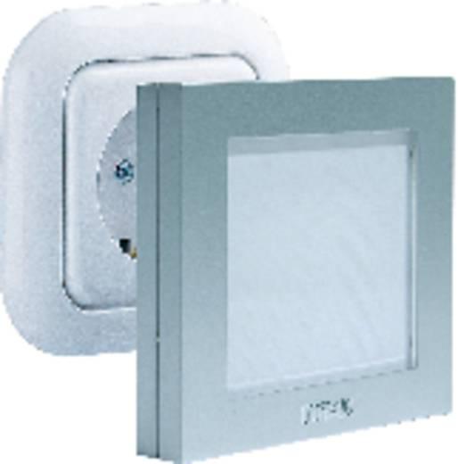 Nachtlicht Quadratisch LED Weiß Silber