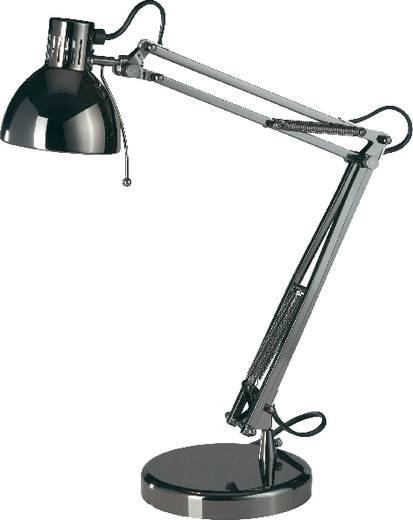 Schreibtischleuchte Halogen, Energiesparlampe GU10 35 W Basetech Dunkel-Grau