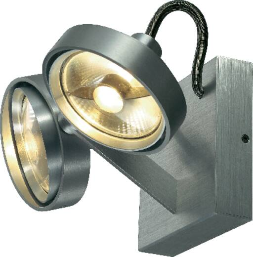 wandstrahler gu10 150 w led slv kalu ii double 147716 aluminium geb rstet kaufen. Black Bedroom Furniture Sets. Home Design Ideas