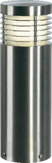 Außenstandleuchte Energiesparlampe E27 20 W SLV Vap Slim 230063 Edelstahl (gebürstet)