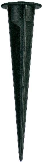 Piquet de terre SLV 900011 noir