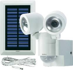 Solární LED svítidlo s detektorem pohybu GEV 000841, bílá
