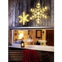 Image of Konstsmide 4440-103 Acryl-Figur Schneeflocken Warmweiß LED Transparent