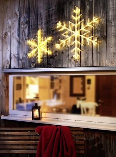 Konstsmide 4440-103 Acryl-Figur EEK: A (A++ - E) Schneeflocken Warm-Weiß LED Transparent