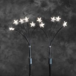 Hviezdy LED dekoratívne osvetlenie Konstsmide 4053-100 zelená, priehľadná