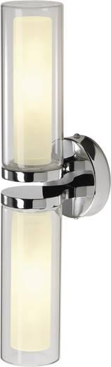 Bad-Wandleuchte Energiesparlampe E14 80 W SLV WL 106 149492 Chrom