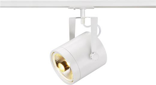 Hochvolt-Schienensystem-Leuchte 1phasig GU10 75 W Halogen, LED SLV EURO SPOT 143801 Weiß