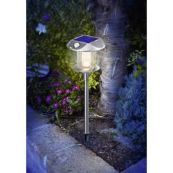LED solárne záhradné svetlo s PIR senzorom Esotec Sunnylight 102092, IP44, nerezová oceľ