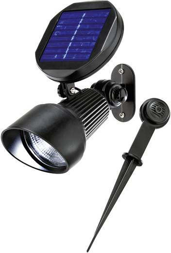 esotec solar gartenstrahler spotlight 102138 led kalt wei schwarz kaufen. Black Bedroom Furniture Sets. Home Design Ideas