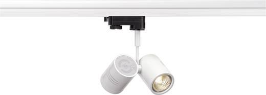 Hochvolt-Schienensystem-Leuchte 3phasig GU10 100 W Halogen, LED SLV Bima II Weiß (matt)
