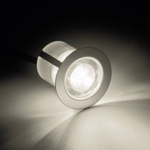 Brilliant Cosa 30 G03093/75 LED-Einbauleuchte 10er Set 1.5 W Warm-Weiß Edelstahl