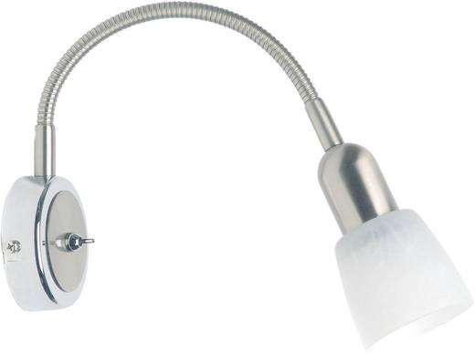 Wandstrahler E14 40 W Energiesparlampe Brilliant Sofia 55390/77 Eisen, Chrom