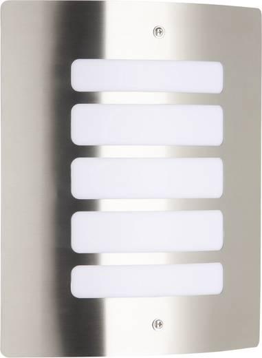 Brilliant Todd 47682/82 Außenwandleuchte Energiesparlampe, LED E27 60 W Edelstahl