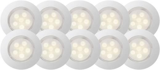 Brilliant Cosa G03094/75 LED-Einbauleuchte 10er Set 4.2 W Warm-Weiß Edelstahl